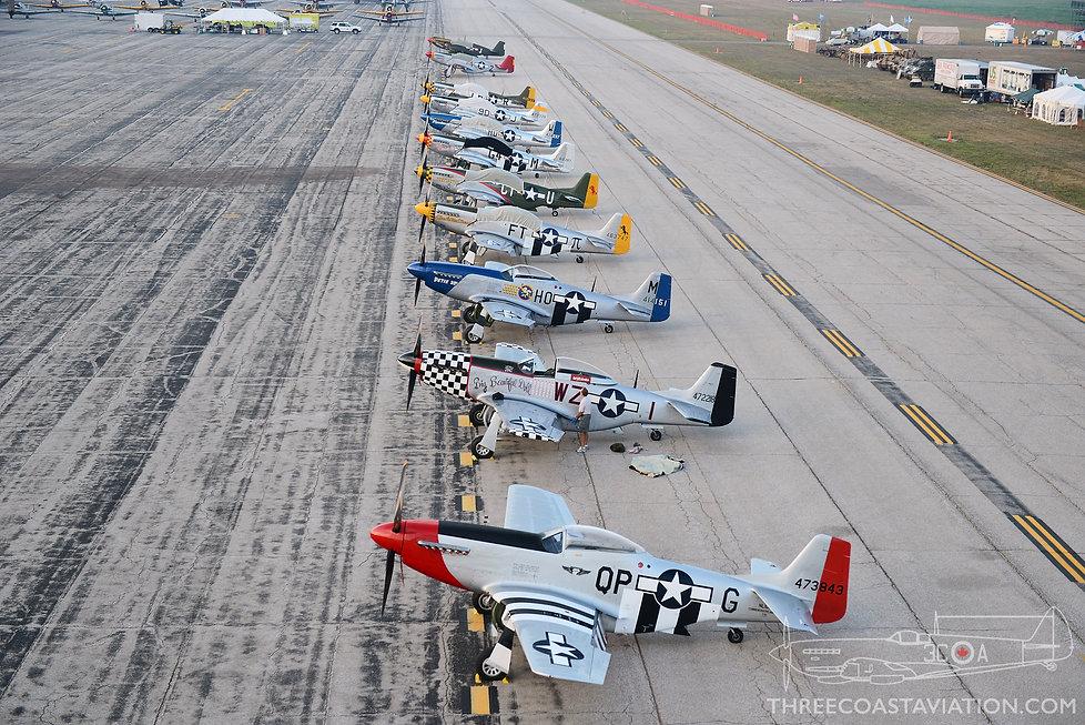 Thunder Over Michigan - 2012 - P-51 Mustangs
