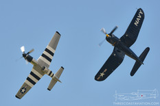 Air Power over Hampton Roads - 2016  North American P-51D Mustang 'Quick Silver'  Vought F4U-4 Corsair 'Korean War Hero'  Class of 45
