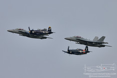EAA AirVenture Oshkosh - 2021  Chance Vought F4U-4 Corsair  Boeing EA-18G Growler VAQ-129 Vikings - United States Navy  Chance Vought FG-1D Corsair