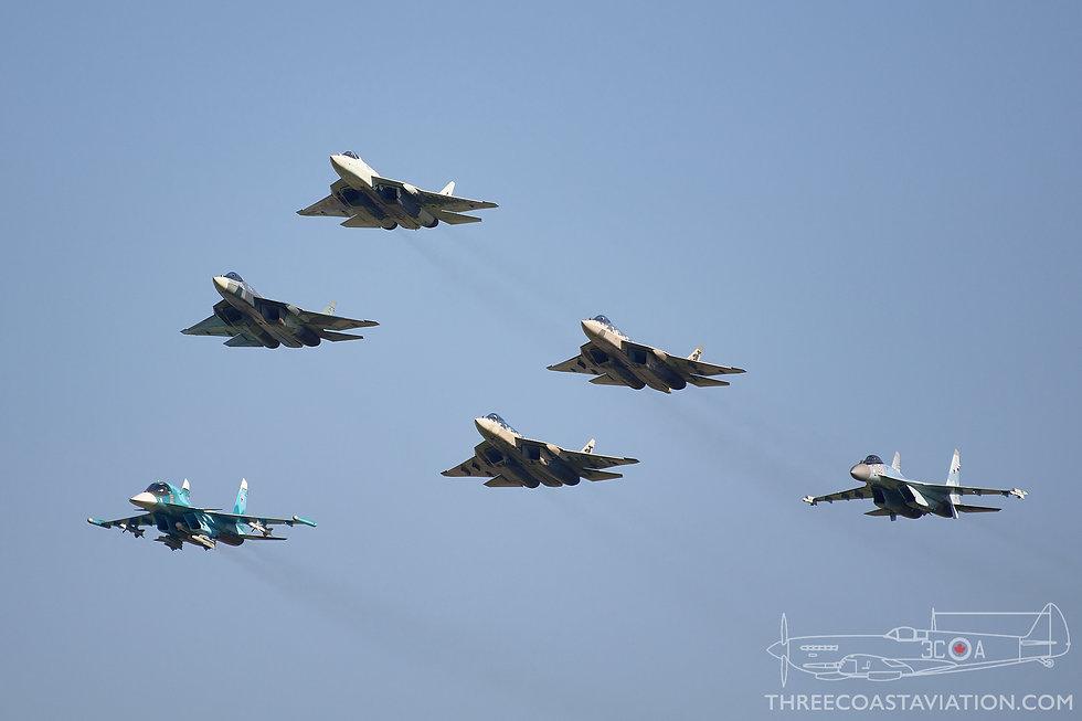 MAKS 2019 - Sukhoi Formation