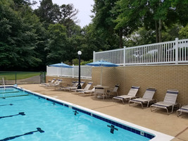 thin brick poolside finished