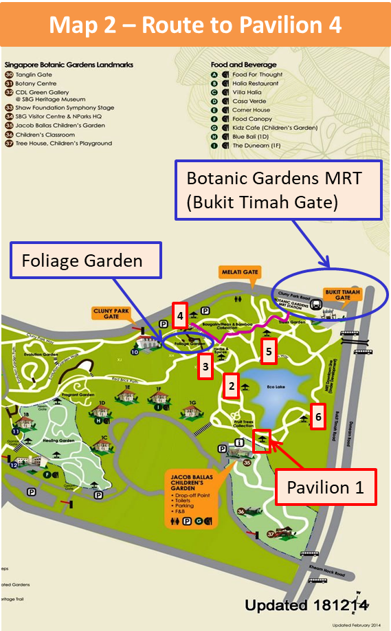 Singapore Botanical Garden Map
