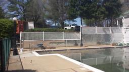 thin brick poolside