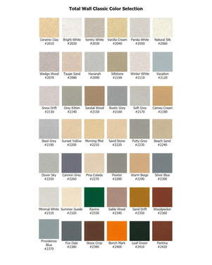 Total Wall Classic Color Selection