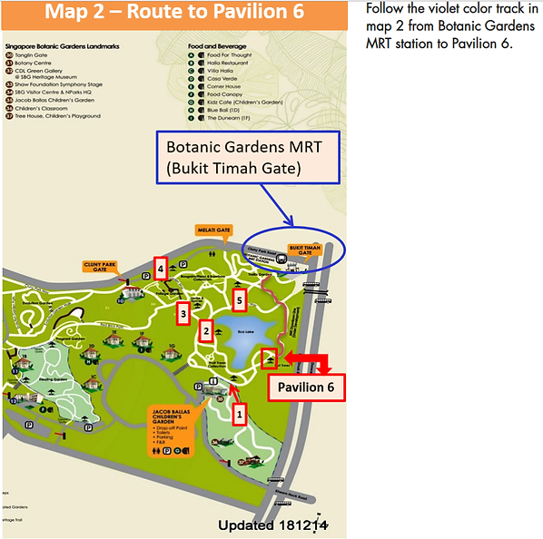Singapore Botanical Garden Map