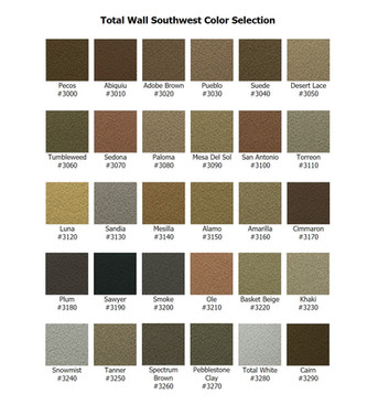 Total Wall Southwest Color Selection