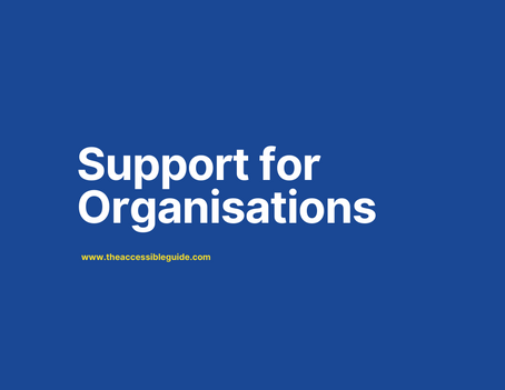 Support for local organinsations