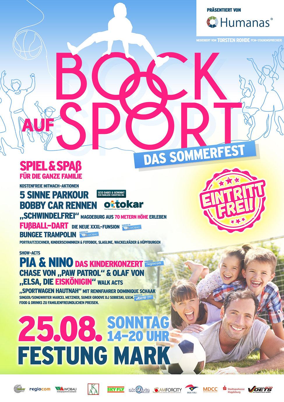 Bock auf Sport - Das Sommerfest - Plakat