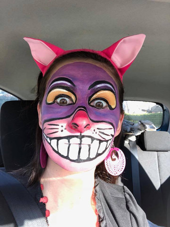 Cheshire Cat inspired makeup