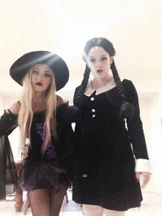 Sexy Witch + Wednesday Addams