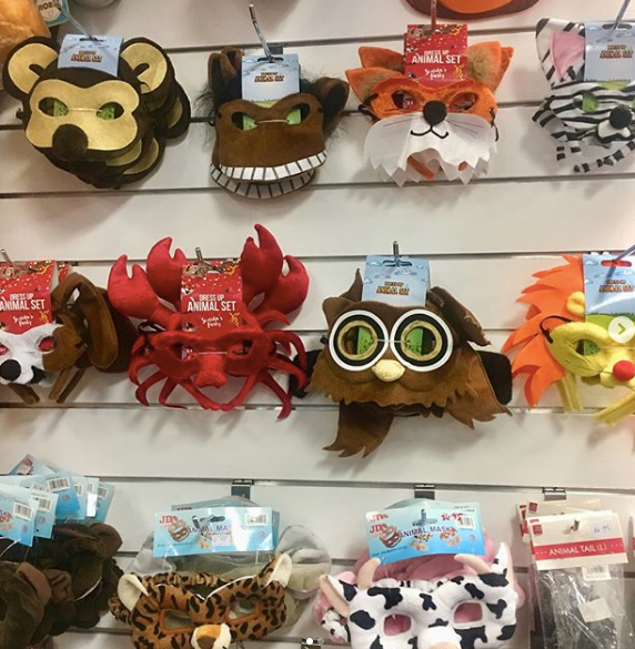 Animal Masks - for sale at both stores