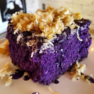 Ube Coffee Cake