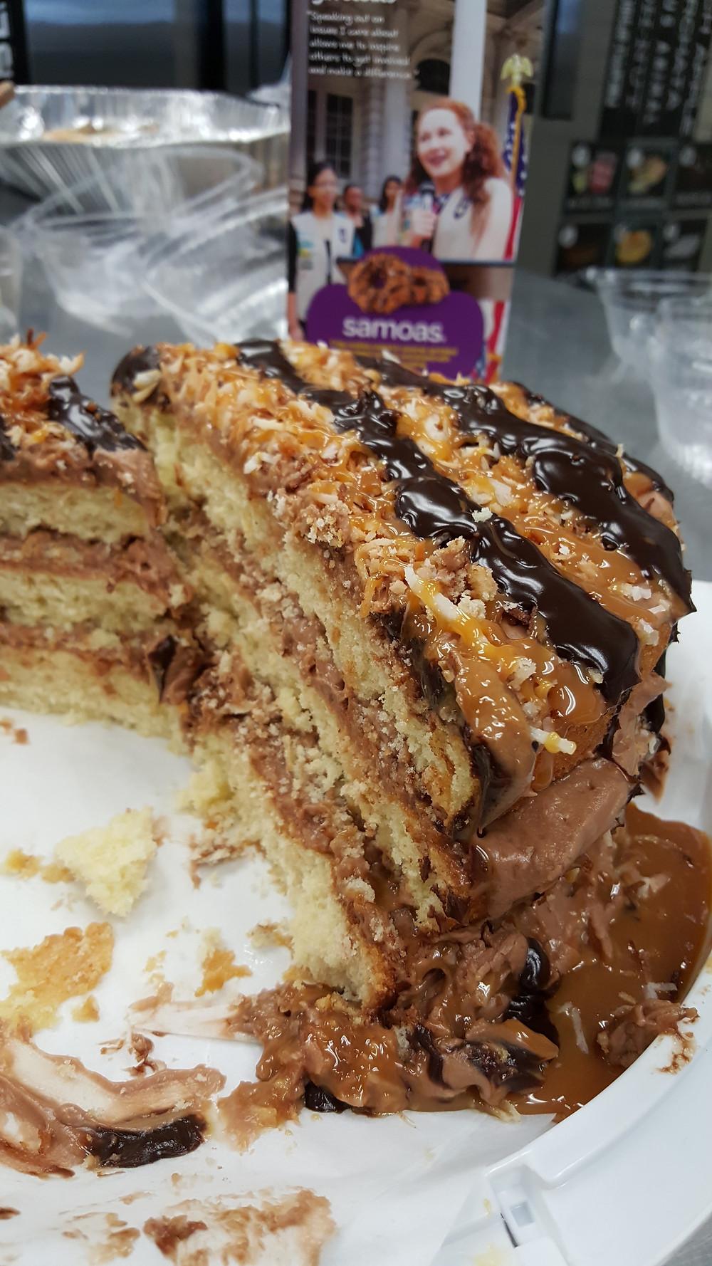B Sweet Samoa Cake