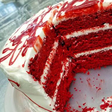 Bloodspatter Red Velvet Cake