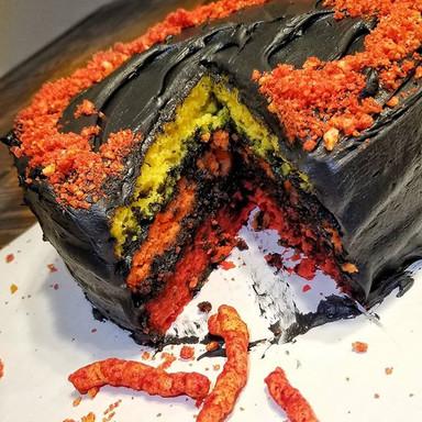 Flamin' Hot Cheetos Cake