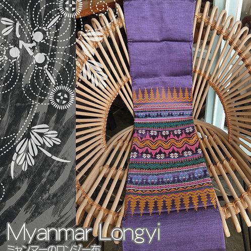 ミャンマーのロンジー生地