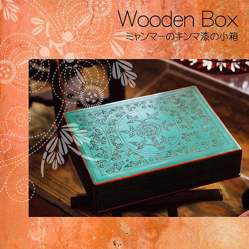 ミャンマーの蒟醤漆の箱
