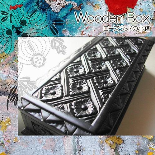 インドネシアのローズウッドの箱 L