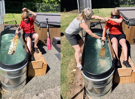 Backyard Dragon Boating: How to make your own water tank for dragon boating training