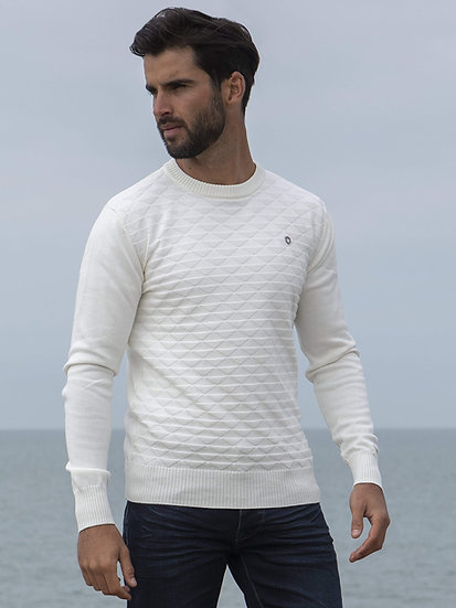 ETO | Designer Men's White Knitwear Style Contain