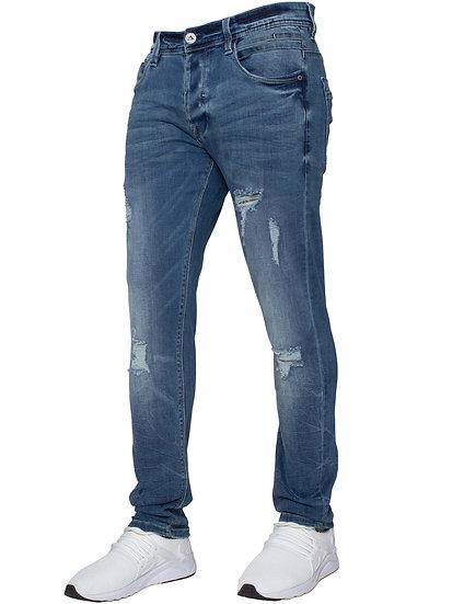 ETO Designer Mens Jeans Skinny Leg Hyper Stretch Denim Jeans