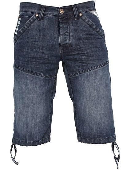 Mens Dark Wash Denim Shorts