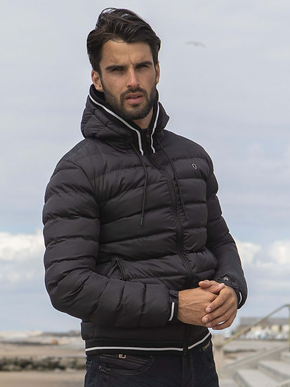 ETO | Designer Men's Black Puffer Jacket Style Mirage