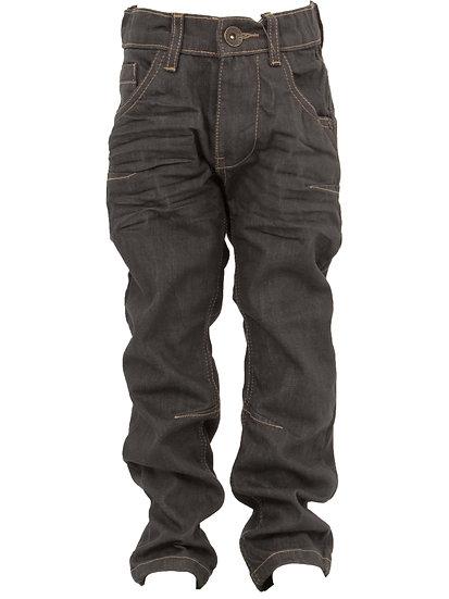 Babies Boys Grey Coated Jeans