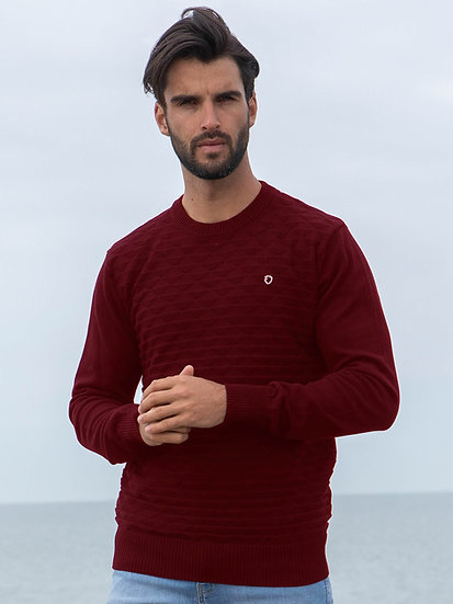 ETO | Designer Men's Burgundy Knitwear Style Contain