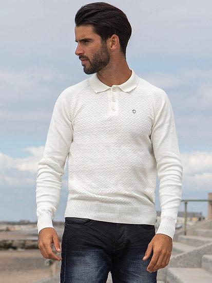 ETO | Designer Men's White Polo Knitwear Style Trust
