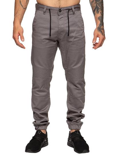 Mens Self Cuffed Designer Denim Jeans |  Grey
