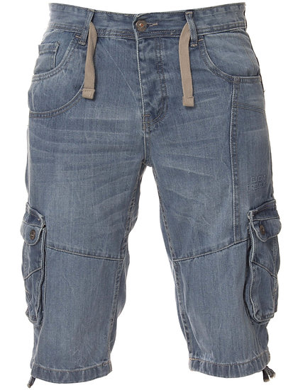 ETO | Designer Mens Light Blue Denim Combat Shorts