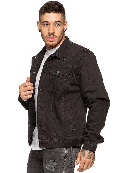 Mens Enzo Denim Designer Jacket - Black |  Black