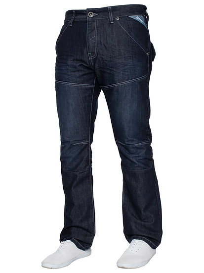 Mens Dark Wash Straight Fit Denim Jeans EZ244 |  Blue