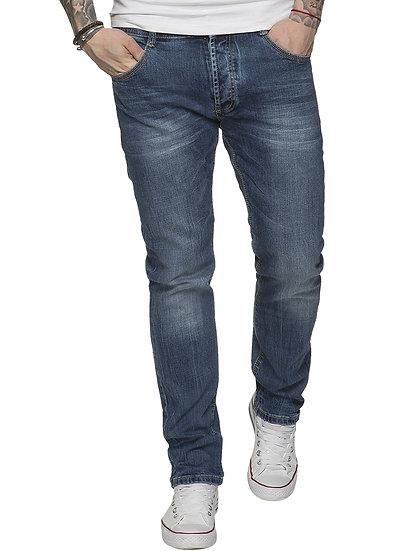 ETO | Men's Designer Tapered Fit Blue Stretch Denim Jeans