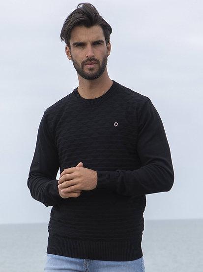 ETO | Designer Men's Black Knitwear Style Contain