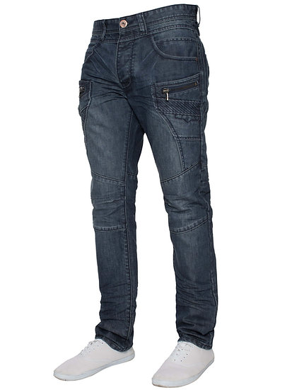 ETO Mens Distressed Tapered Jeans