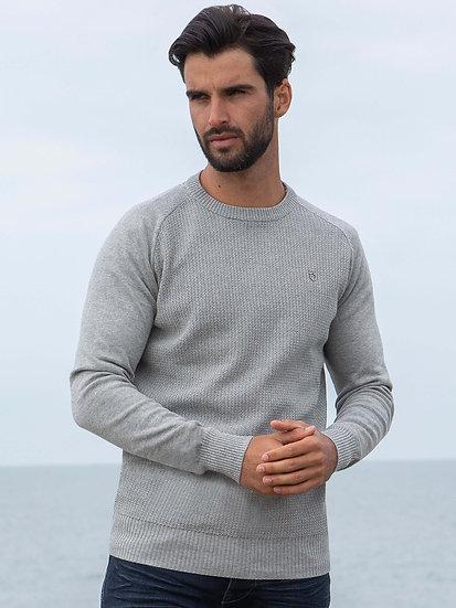 ETO | Designer Men's Grey Crew Neck Knitwear Style Brave