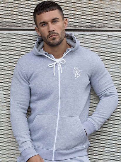 ETO | Mens Designer Grey Athletic Hoodie Confirm