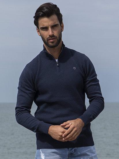 ETO | Designer Men's Navy Knitwear Style Shield