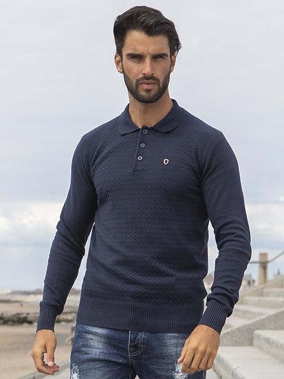 ETO | Designer Men's Navy Polo Knitwear Style Trust