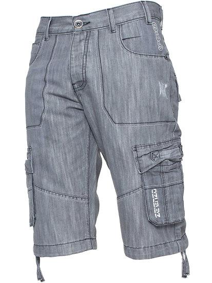 Mens Raw Combat Cargo Denim Shorts | Enzo Designer Menswear