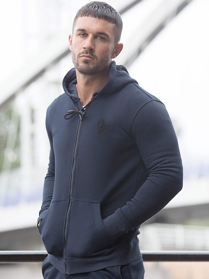 ETO | Mens Designer Navy Athletic Hoodie Confirm