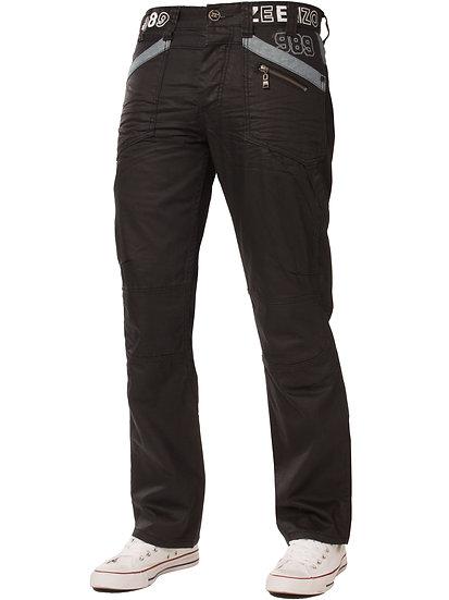 Mens Tapered Black Coated Denim  Jeans |  Black