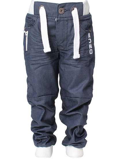 Babies Navy Cuffed Fit Denim Jeans