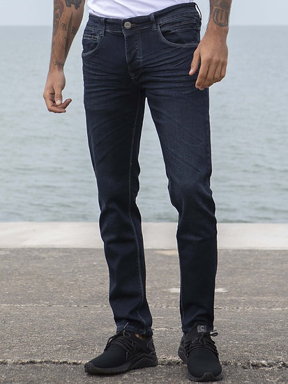 ETO | Designer Mens Dark Blue Reflex Super Skinny Denim Jeans