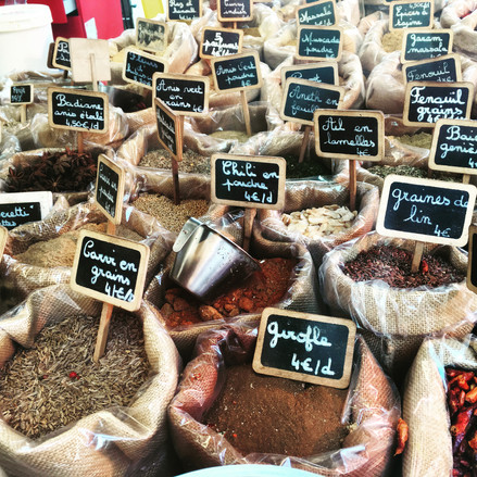 Spice markets in the South of France