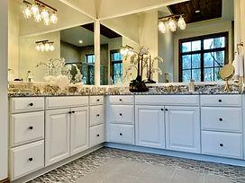 modern bathroom white cabinets
