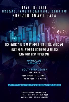 Insurance Industry Charitable Foundation Horizon Award Gala