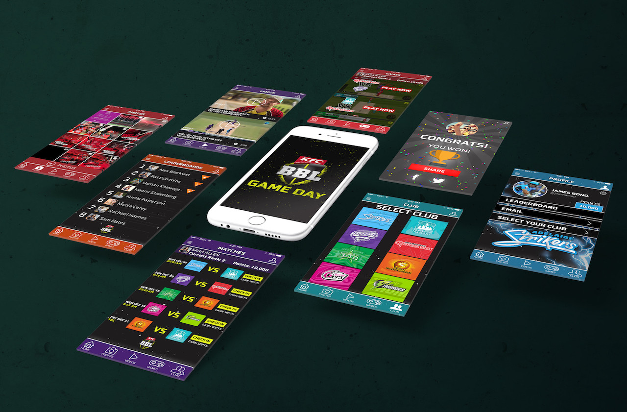 BBL Game Day App Design